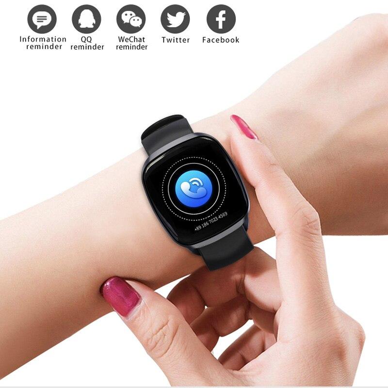 Bluetooth Smart Uhr Fitness Sport Schrittzähler Herz Rate..
