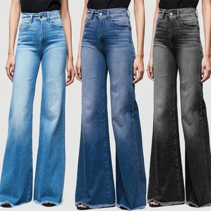 Jeans Breite Beine Denim Jeans