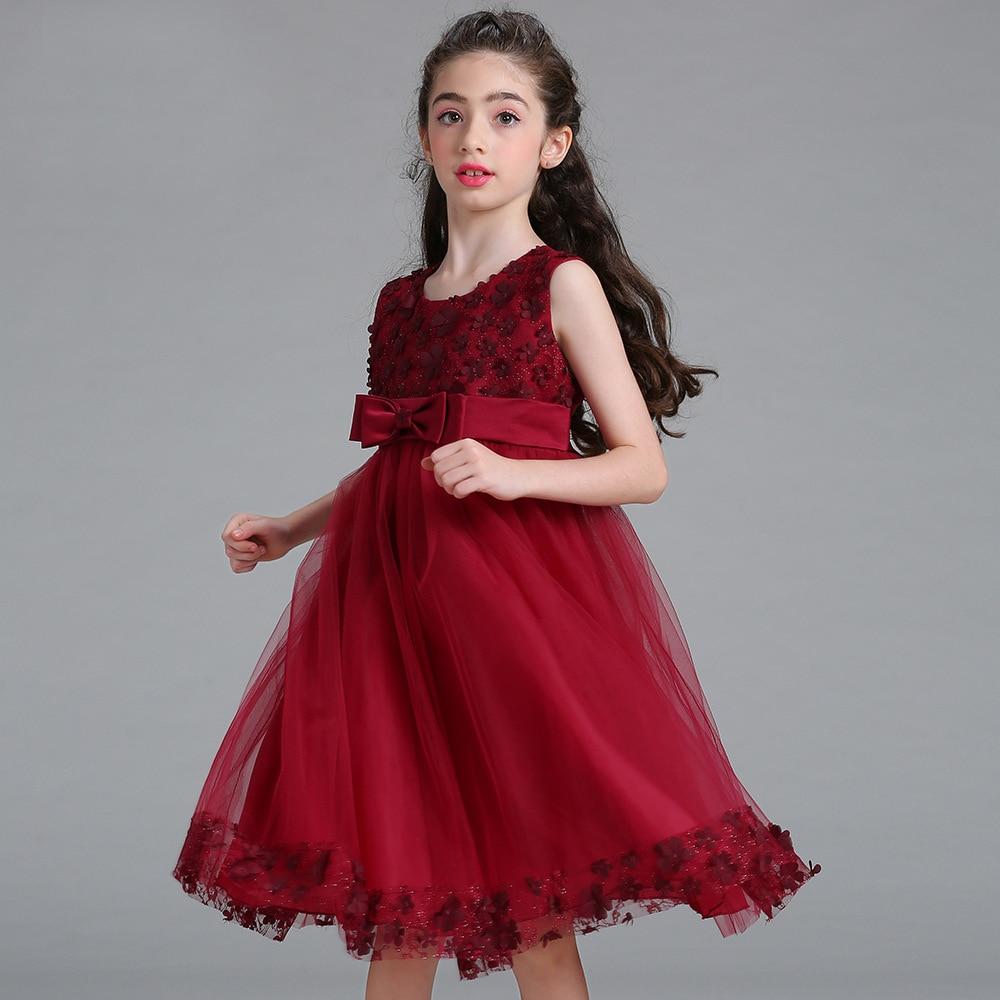 Mädchen Kleid Sommer Prinzessin Hochzeit Party - Darilo24.com