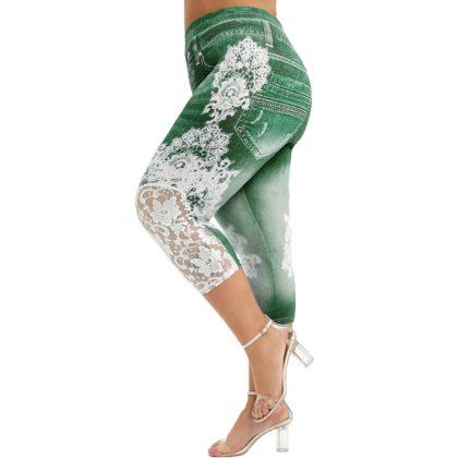 Plus Größen Spitze Leggings Hose