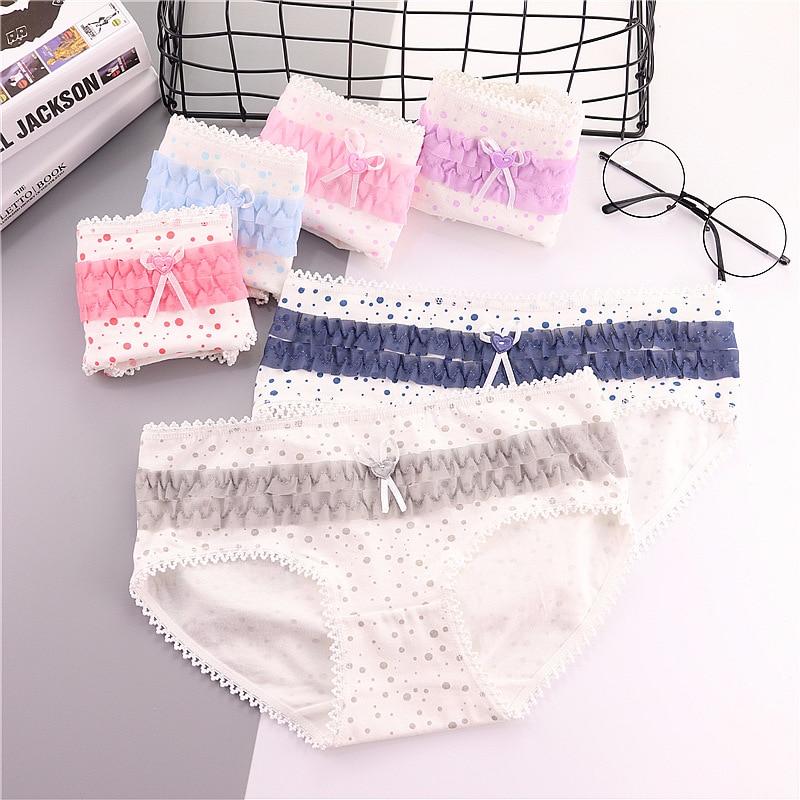 6 Stück Mädchen Unterwäsche spitze Slip Jugendliche